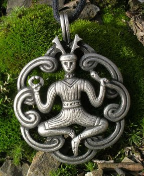 Keltsich amulet, Cernunn /Kernunn/ Cernunnos