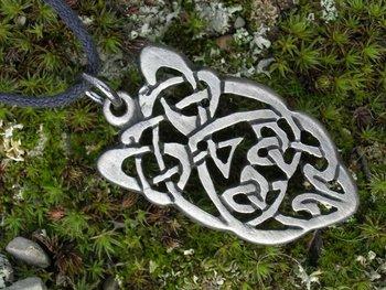 Keltisch beest/beast, knoop hanger