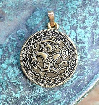 Man op paard, Viking bracteate