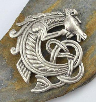Keltisch paard, broche