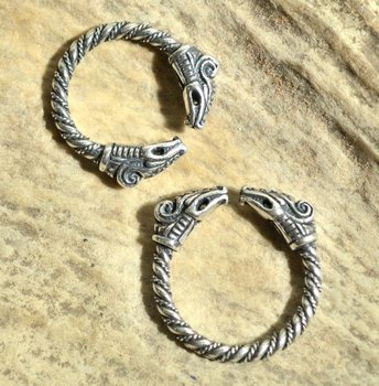 Viking ring Dreki,  zilver