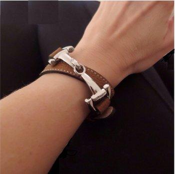 leren armband met Bit sluiting