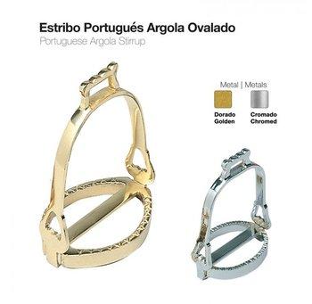 Zaldi Portugese stijgbeugels,ronde uitvoering