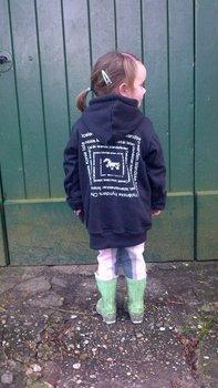 Kinder Hoodie/Hoody IJslandse paarden in heel veel talen.