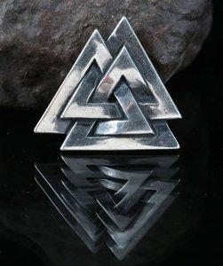 Valknut, zilveren Viking hanger