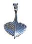Drakkar vikingschip, zilveren hanger
